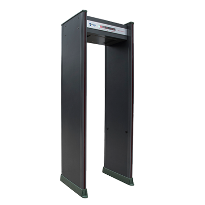 标准18区防雨安检门(可定制滑轮加装摄像头联网控制闸机)